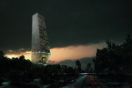 duurzame wolkenkrabber Rem Koolhaas OMA Mexico Torre Bicentinario